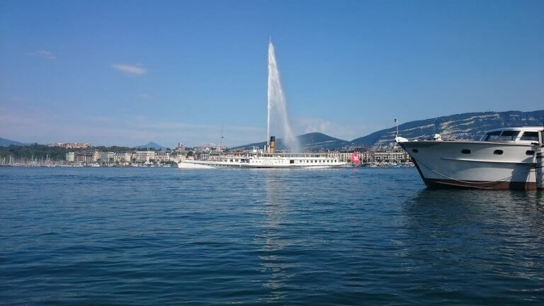 A touristic view of Geneva.