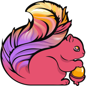 The logo of Apache Flink.