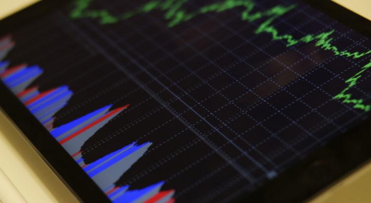 Stock price following an upward trend.